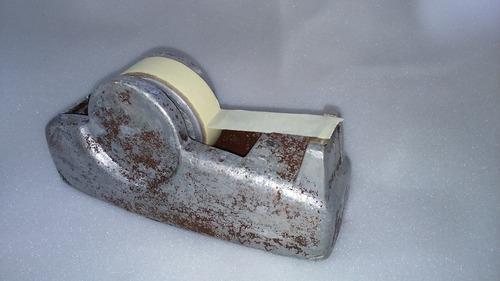 dispensador de cinta aluminio macizo plastificado 23x10 cm