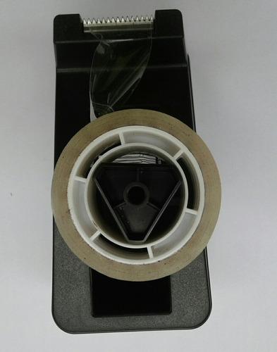 dispensador de cinta scotch 19 mm genmes negro (sin cinta)