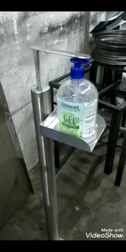 dispensador de gel en acero