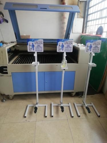 dispensador de gel metálico