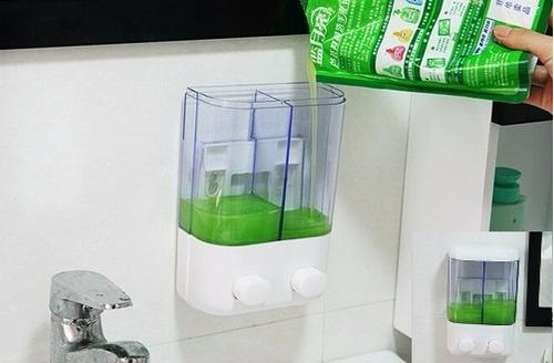 Dispensador de jab n doble 1 litro para ba o o cocina - Dispensador jabon cocina encastrado ...