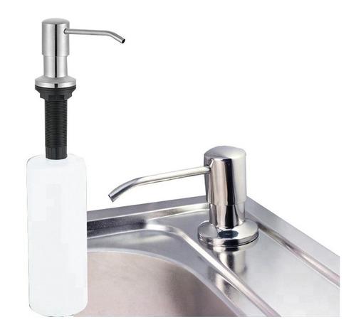 dispensador de jabon liquido de acero inoxidable cocinas