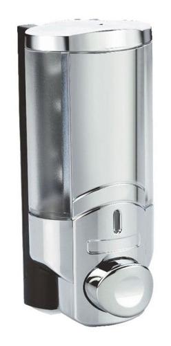 dispensador de jabón líquido plástico cromado 400ml vert