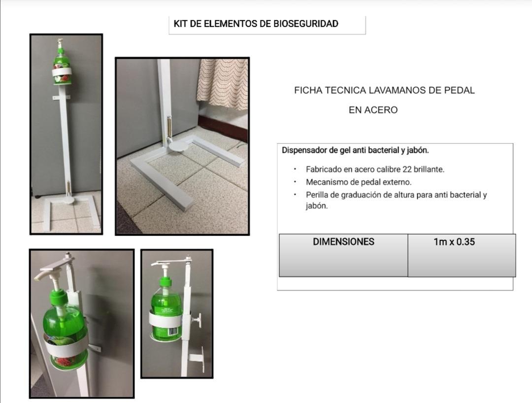dispensador de jabón líquido y gel antibacterial