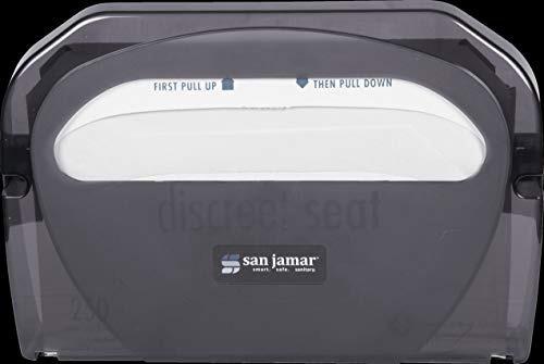 dispensador de la cubierta del asiento del inodoro san jamar