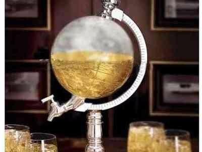 dispensador de licores / cerveza globo terraquio 900ml