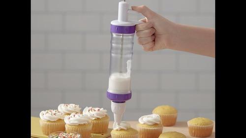 dispensador de merengue crema decoración pastel wilton plus