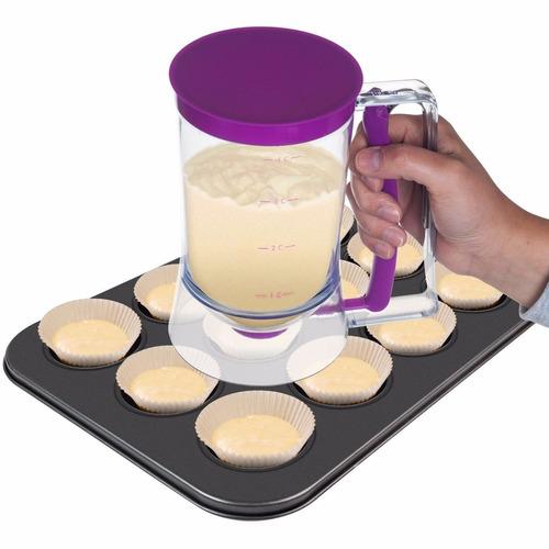 dispensador de mescla chef buddy para hotcakes, crepas y mas