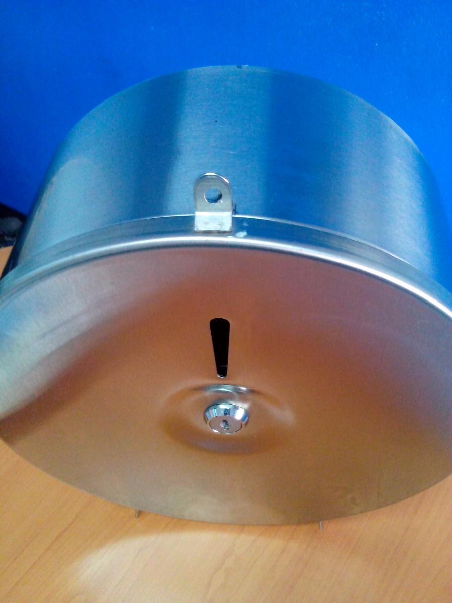 Dispensador de papel higienico 9 pulgadas acero inoxidable for Dispensador de papel