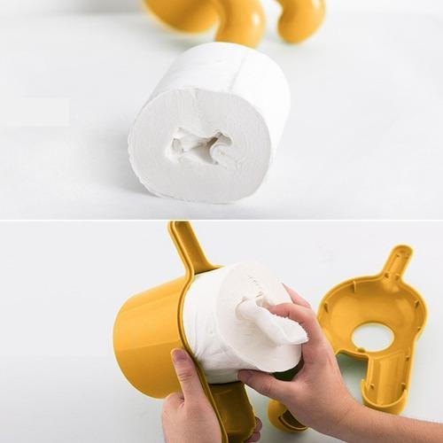 Dispensador de papel higienico forma trasero de perro for Dispensador de papel higienico