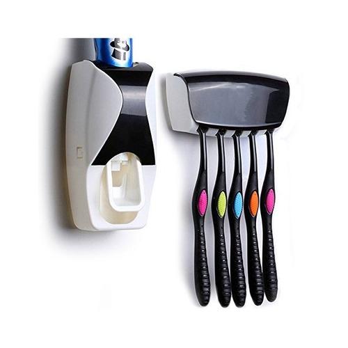 dispensador de pasta dental con porta cepillos ezwin