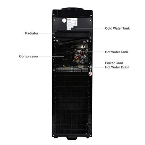 dispensador de refrigerador de agua de la carga superior,...