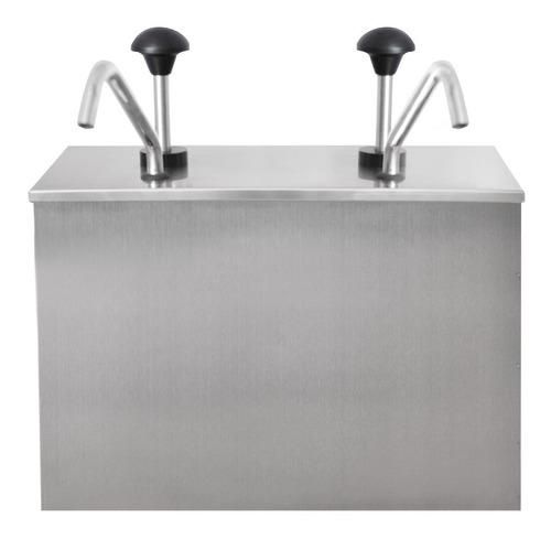 dispensador de salsas 2 tanques