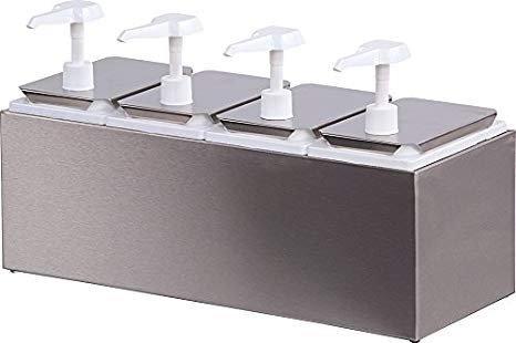 dispensador de salsas condimentos 4 compartimentos restauran