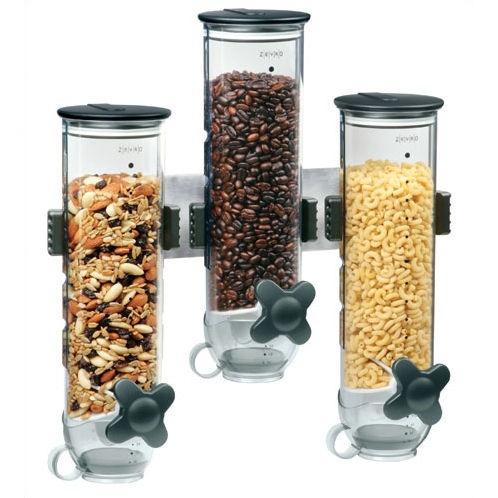 dispensador despachador  de cereal triple y empotrable vv4