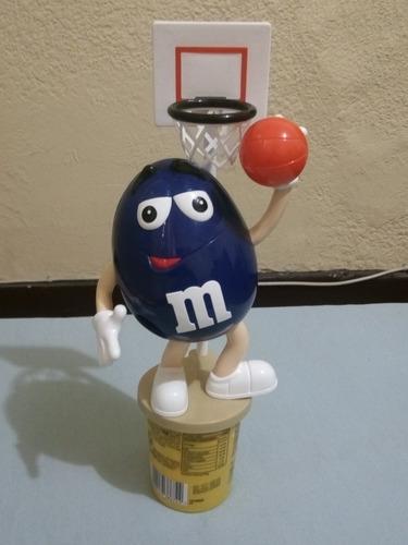 dispensador dulces m&m futbol y baloncesto pequeños