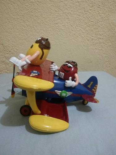 dispensador dulces m&m tipo avion de coleccion  sensacional