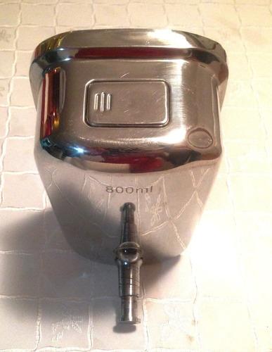 dispensador jabon liquido acero inoxidable 800cc