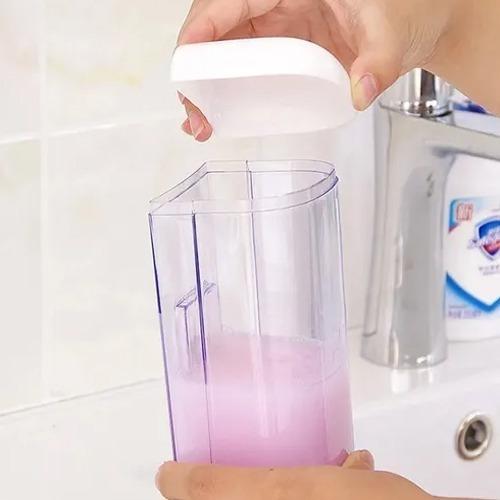 dispensador jabón líquido alcohol gel desinfectante 2x1