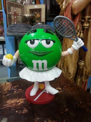 dispensador manual de m&m tema tenista