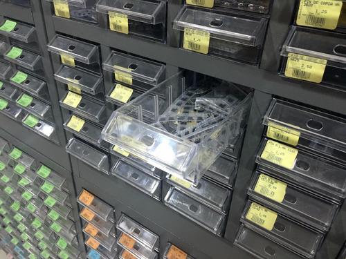 dispensador metálico con 75 gavetas plásticas ld-1993