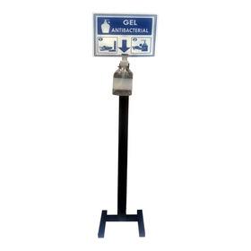 Dispensador Metálico De Pedal, Negro Gel Antibacterial 500ml
