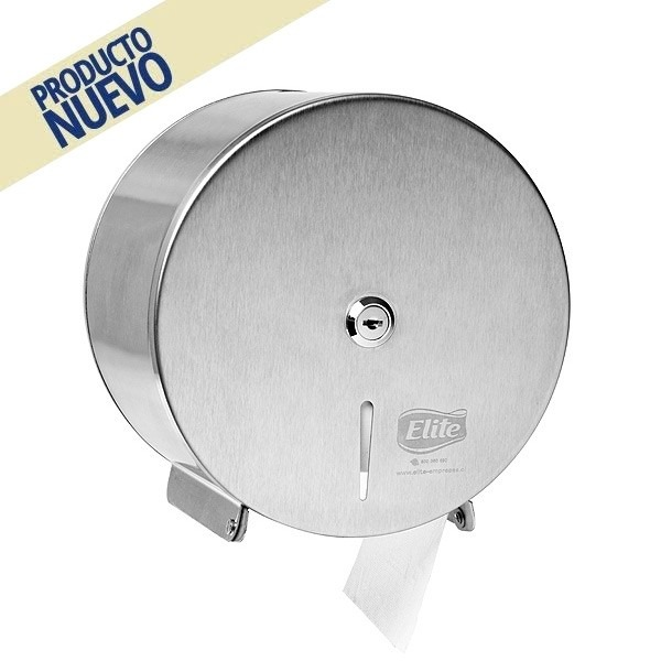 Dispensador papel higi nico elite acero inoxidable 23 for Dispensador de papel higienico