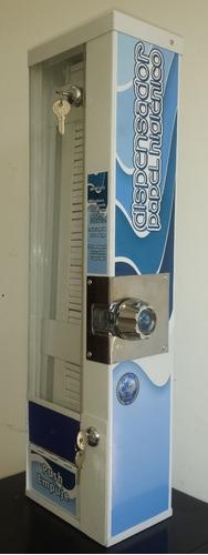 dispensador papel higiénico monedero 100% metálico 55 repues