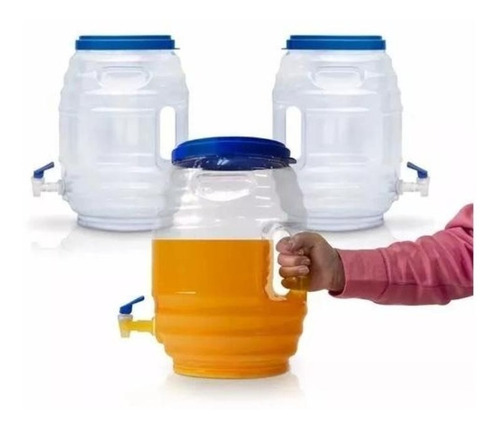 dispensador para cocina 3 vitroleros llave y tapa 11 litros