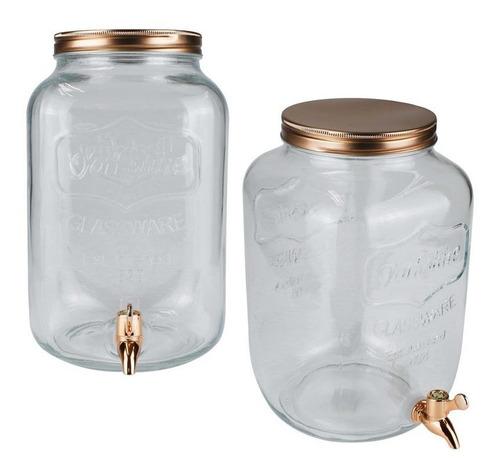 dispensador vidrio 8lts tapa metal 24128 - el clon