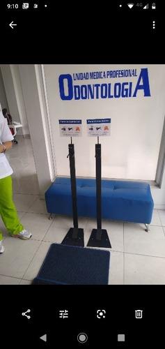 dispensadores  de pedal  y tapetes de desinfección
