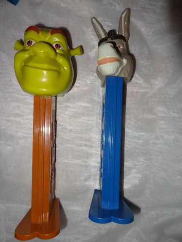 dispensadores pez despachadores gigantes shrek y burro