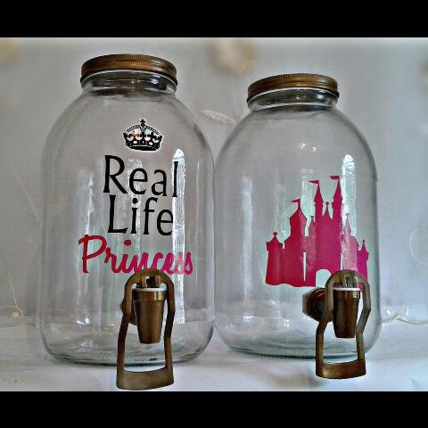 dispensadores princesa vintage mason jar estación de bebidas