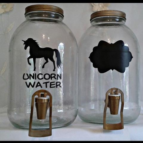 dispensadores unicornio vintage mason jar estación de bebida