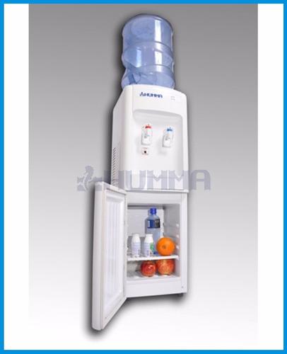 dispenser agua frio calor para bidón con heladera humma
