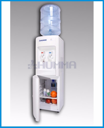 dispenser agua frio calor para bidones con heladera humma