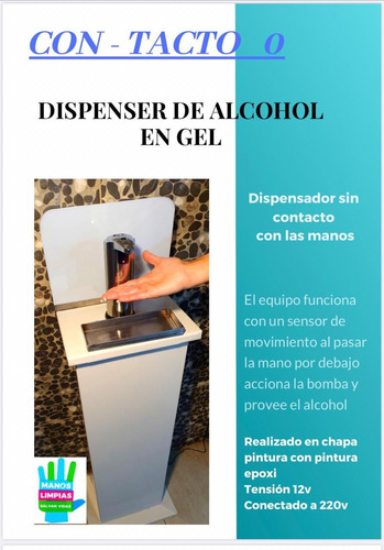 dispenser automático de alcohol en gel