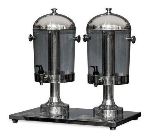 dispenser bebida fria de dos vasos santini ebf2 - aj hogar
