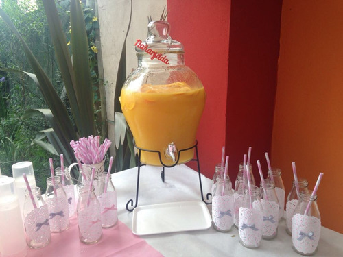 dispenser bebidas vidrio varios modelos teaparty
