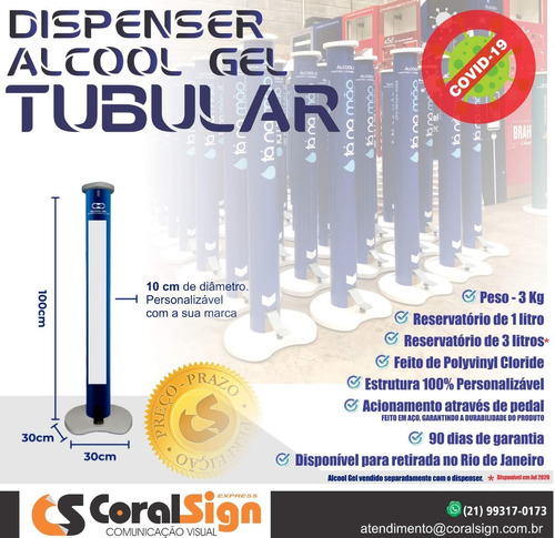 dispenser de alcool gel / barreiras de acrilico respingos