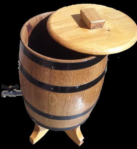 dispenser de fernet en madera de roble 2 litros