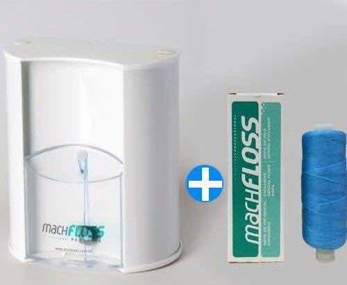 8111fa5ac Dispenser De Fio Dental Bucal + Refil 400m Machfloss - R  85