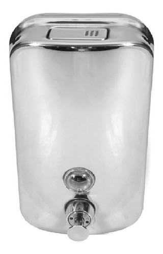 dispenser de jabon liquido acero inoxidable baño publico primera calidad 800 ml