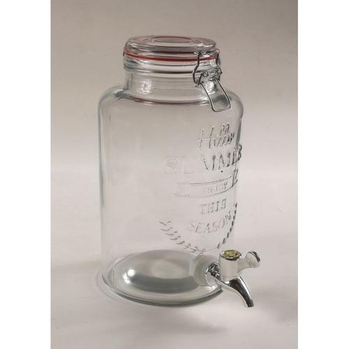 dispenser de jugo bebidas  vidrio canilla pie metalico 3.5l
