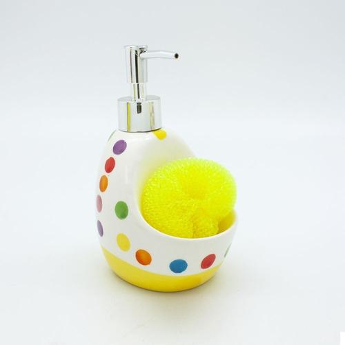 dispenser jabon dots amarillo  cocina morph
