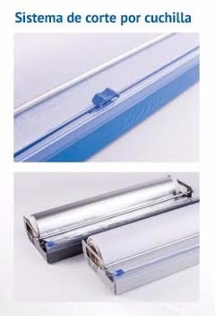 dispenser lipari rollo de cocina c corte papel aluminio film