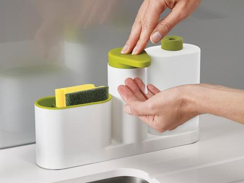 dispenser organizador jabon joseph joseph manos cocina