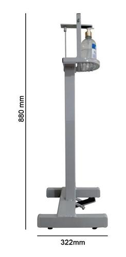 dispenser para álcool gel infantil com acionamento por pedal