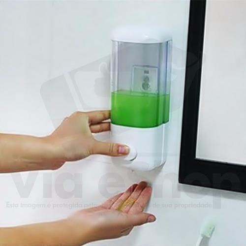 dispenser sabonete líquido saboneteira álcool gel parede