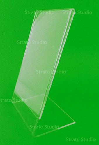 display 10x15cm vertical em ps em l - porta retrato / foto